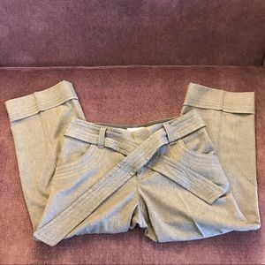 Anthropologie Gray Cropped Trousers by Elevenses