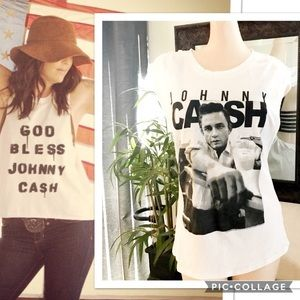 Johnny Cash Rootswear Open Back Sleeveless T-shirt