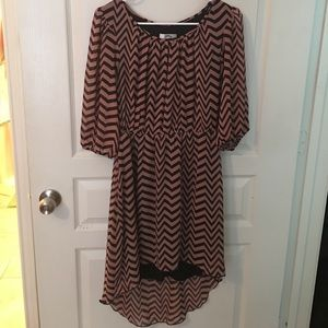 Chevron hi/low dress