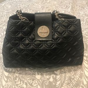 Kate Spade Black Leather Quilted Bag
