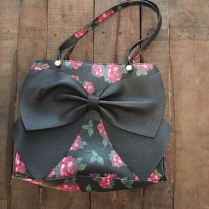 Betsey Johnson rose and bow purse