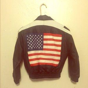 Vintage Leather USA Jacket