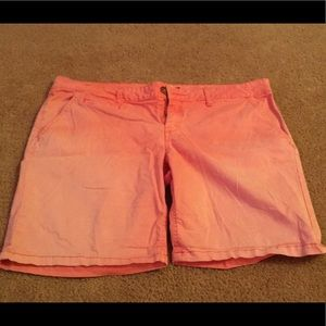 Coral colored shorts