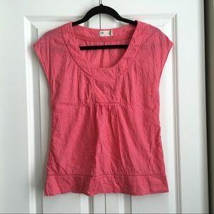 Anthropologie Tikirani Pink Cotton Blouse - Size S