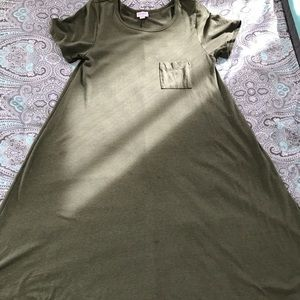 LuLaRoe XS Army Green Carly