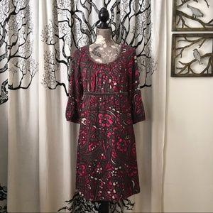 Boden Velvet Trimmed Fall Dress