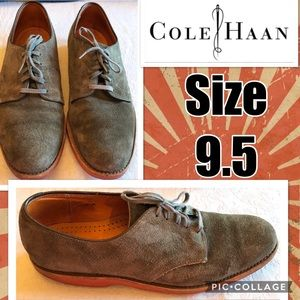 Cole Haan Brown Suede Oxford Shoes Size 9.5