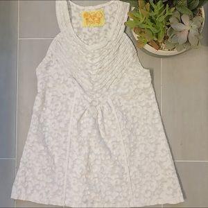[ Free People ] White Boho Crochet Racerback Sz M