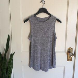 Merona heather gray knit sleeveless top