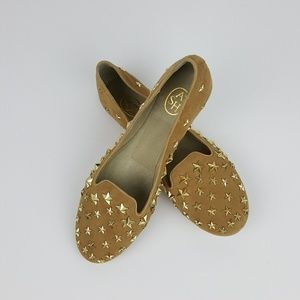 ASH Tan Infini Studded Star Flats Career or Casual