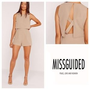 Missguided Crepe Double Layer Playsuit