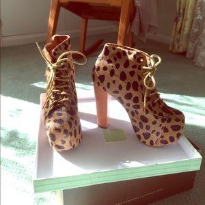 Jeffrey Campbell lita boot. (Leopard print)