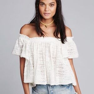 Free People Thrills & Frills Knit Top