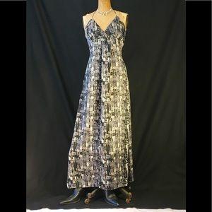 Romeo & Juliet abstract print halter maxi dress