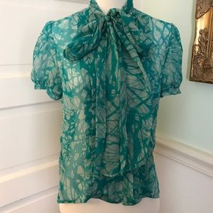 Anthropologie To The Max Silk Top