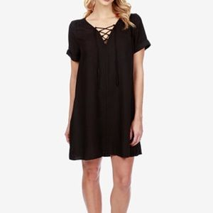 Lucky Brand Lace Up Swing Dress NWT