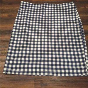 Gingham Plaid Skirt