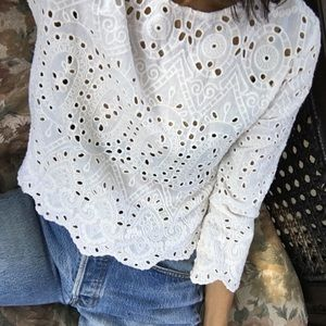 Zara Embroidered Blouse Small