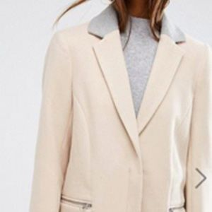 ASOS Coat in Classic Fit with Contrast Collar
