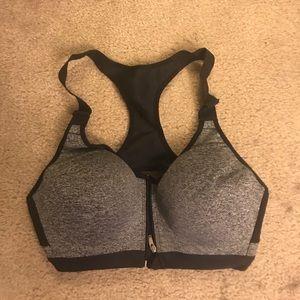 VSX zip front sports bra