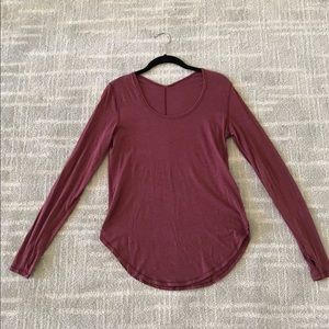 Lululemon long sleeve shirt in cranberry