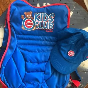 Other - Chicago Cubs Kids Club Backpack & Hat