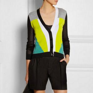 Peter Pilotto Target Colorblock Cardigan Sweater