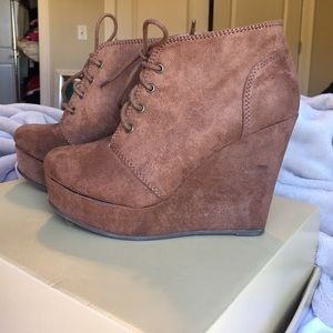 Size 6 Brown Booties from Journeys