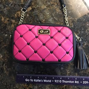 Betsey Johnson Pink Crossbody Purse