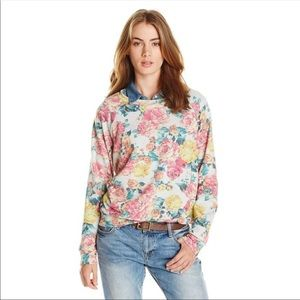 Boho Chic Floral Print Sweater