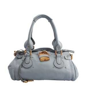 Chloe Paddington Blue Leather Satchel (136324)