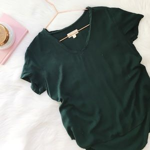 Anthropologie Cloth & Stone V Neck Top