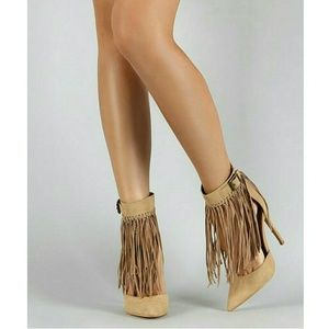 Shoe Republic LA  Knotted Fringe Cuff Pointed Toe