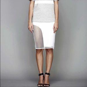 StyleStalker Mesh White Skirt