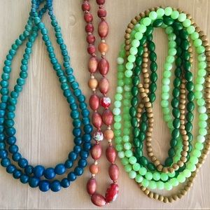 Jewelry - Wooden Jewelry Lot || boho necklaces