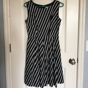 Modcloth Dress Black and White Small