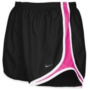 Black and magenta Nike tempo shorts