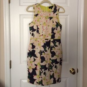 Floral Neoprene dress, JCrew