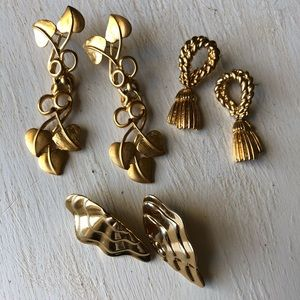 Instant earring bundle! 3 pairs of gold earrings