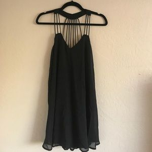 Express strappy little black dress