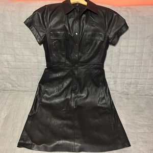 f03519301e0 BCBGMaxAzria Dresses - Bcbgmaxazria Stephana Faux Leather shirt dress