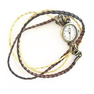 Lenny & Eva Braided Leather Interchangeable Watch