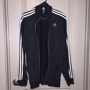 Adidas Black & White Zip Up Jacket