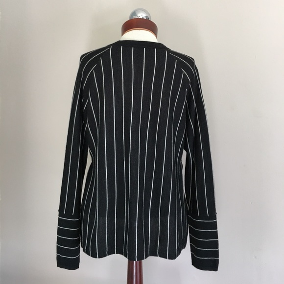 J. Crew Sweaters - J CREW pinstripe side slit sweater