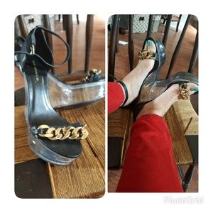 Funkytown lucite heel shoes 10