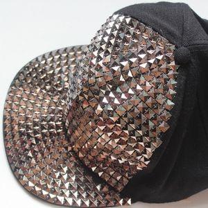 Studded Snapback Hat