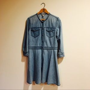 NWOT GAP chambray shirt dress
