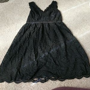 Size 2 LOFT black lace dress