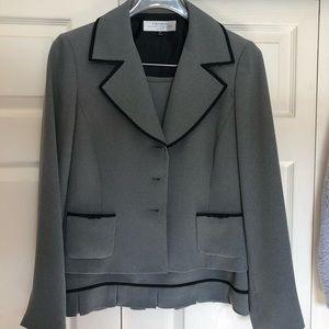 Size 8P black and white Tahari skirt suit.