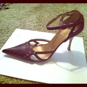 Kenneth Cole Pointy Toe Ankle Strap Heels